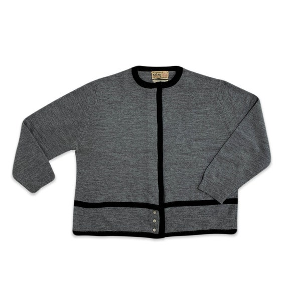 60s Givenchy colorblock grey cardigan