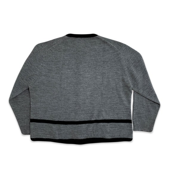 60s Givenchy colorblock grey cardigan - image 3