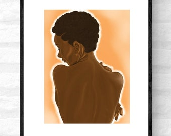 Velvet • black woman art, Afro woman wall art, Black wall art décor UK, Afro woman wall art décor, Afrocentric art, Afrocentric décor