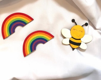 Bumble BEE /Honey bee and Rainbow Magnets