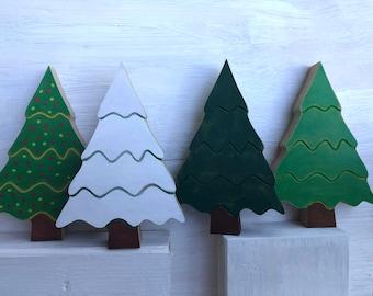 Christmas TREE, holiday Tiered Tray decor