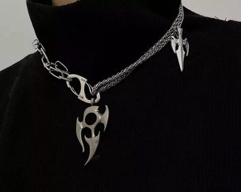 NEVER TARNISH Dense Chain /& Nautical Clasp Necklace Surgical steel Silver necklaces for women Silver necklaces for men Silver coin necklace