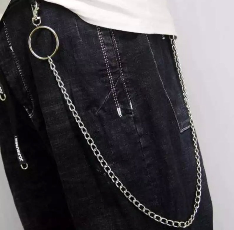 Punk Street keychain trousers pants chain For Man Woman Multi Layer Man chain Wallet Belt Chains Hipster Keyring Hip Hop Jewelry
