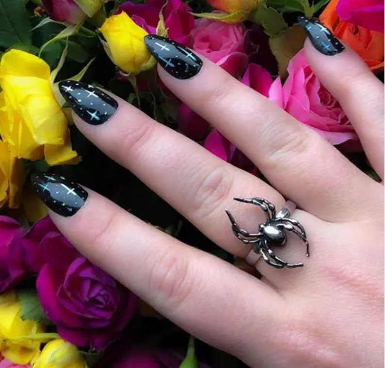 Spider Ring Adjustable Spider Lovers Gift Gothic Jewellery Halloween Jewelry Steampunk Fashion Accessories Women Jewellery