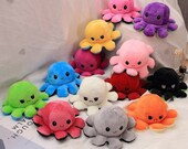 Reversible Octopus Plushie, Mothers Day 2021, Octopus Plush Toy, Double-Sided, TikTok Mood Plush, Show Your Mood without saying a word