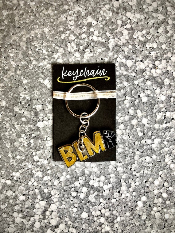 personalized gift support gift friend gift equality movement Custom keychain black lives matter statement gift stand together keychain