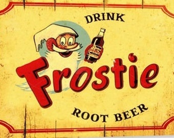 New Try the Original Root Beer Float Metal Tin Sign