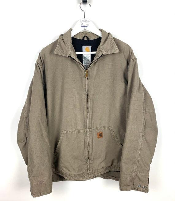 Vintage Carhartt canvas brown/beige zip workwear j