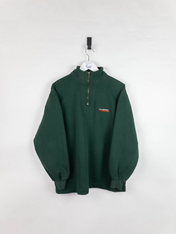 Vintage 90s Polo Sport Quarter Zip crewneck sweats