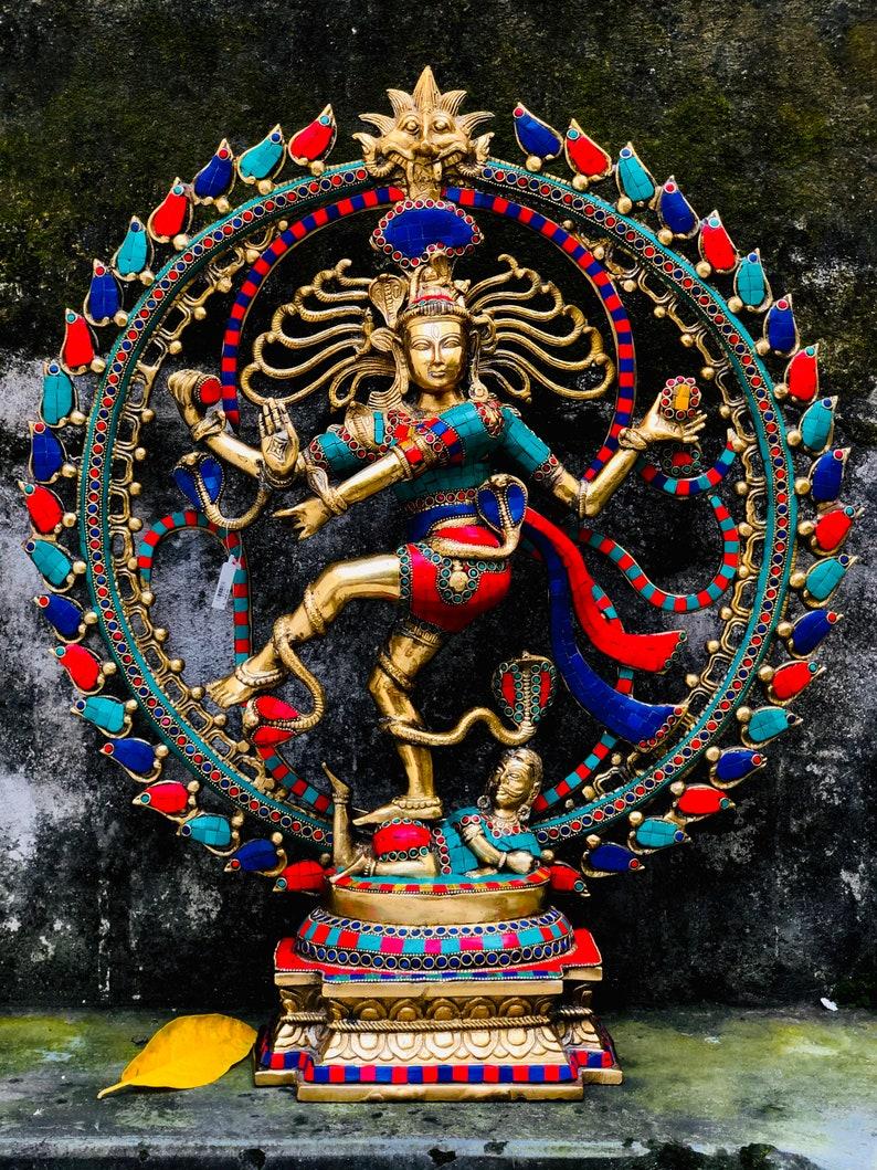 25  handmade dancing Shiva Natraj statue Indoor outdoor image 0
