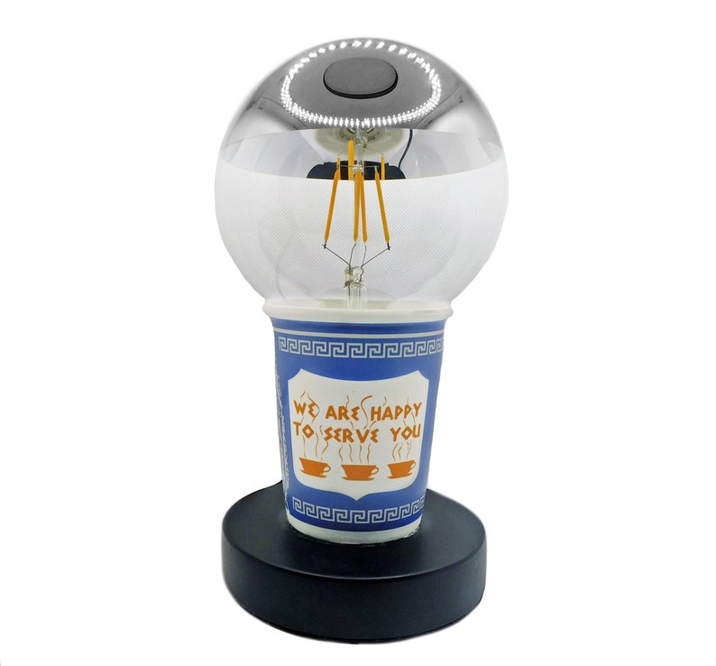 Table Lamp We Are Happy To Serve You Coffee Cup Lamp image 0