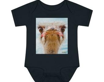 Ostrich Infant Onesie ~ Baby Boy Onesie ~ Baby Girl Bodysuit ~ Romper ~ Infant Bodysuit ~ Premium Baby Clothing