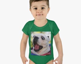 Surprised Dog Onesie ~ Baby Boy Onesie ~ Baby Girl Bodysuit ~ Romper ~ Infant Bodysuit ~ Premium Baby Clothing
