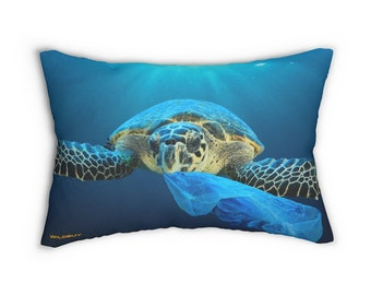 Sea Turtle Lumbar Pillow ~ Printed Front & Back ~ Includes Insert ~ Couch ~ Sofa ~ Chair ~ Large Size 14x20~Ocean Turtle