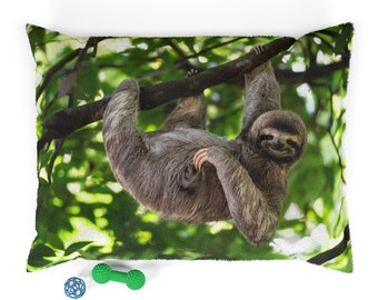 Sloth Pet Bed ~ Kitten Pet Bed ~ Dog Pillow ~ Animals ~ Puppy ~ Cat Pillow ~ Bedroom ~ Includes Insert ~ Various Sizes