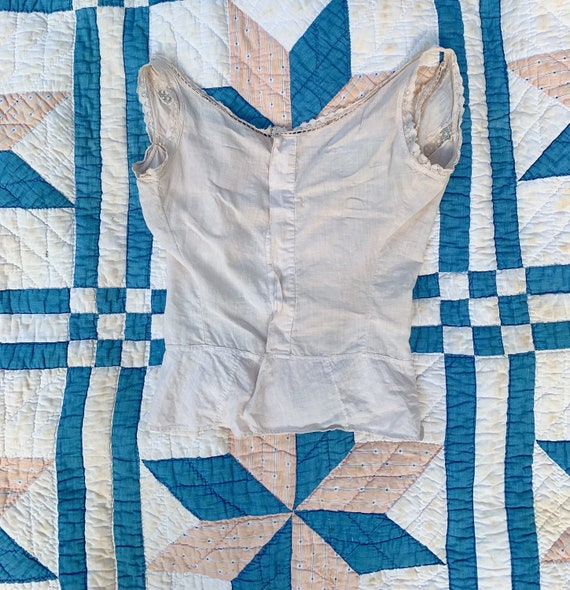 delicate naturally dyed antique cotton blouse - image 3