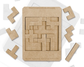 Wooden game, Pentaminos blocking