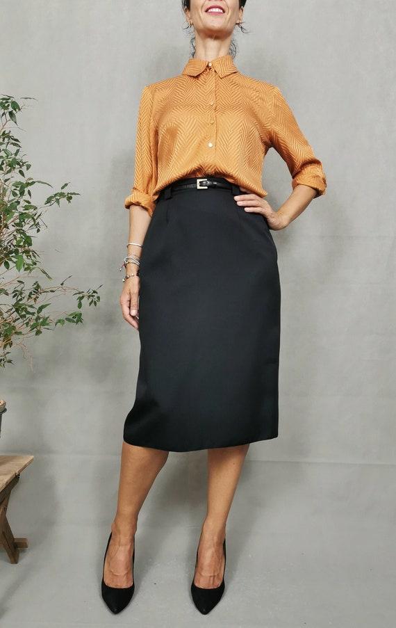 Vintage silk shirt for women size M , Elegant silk