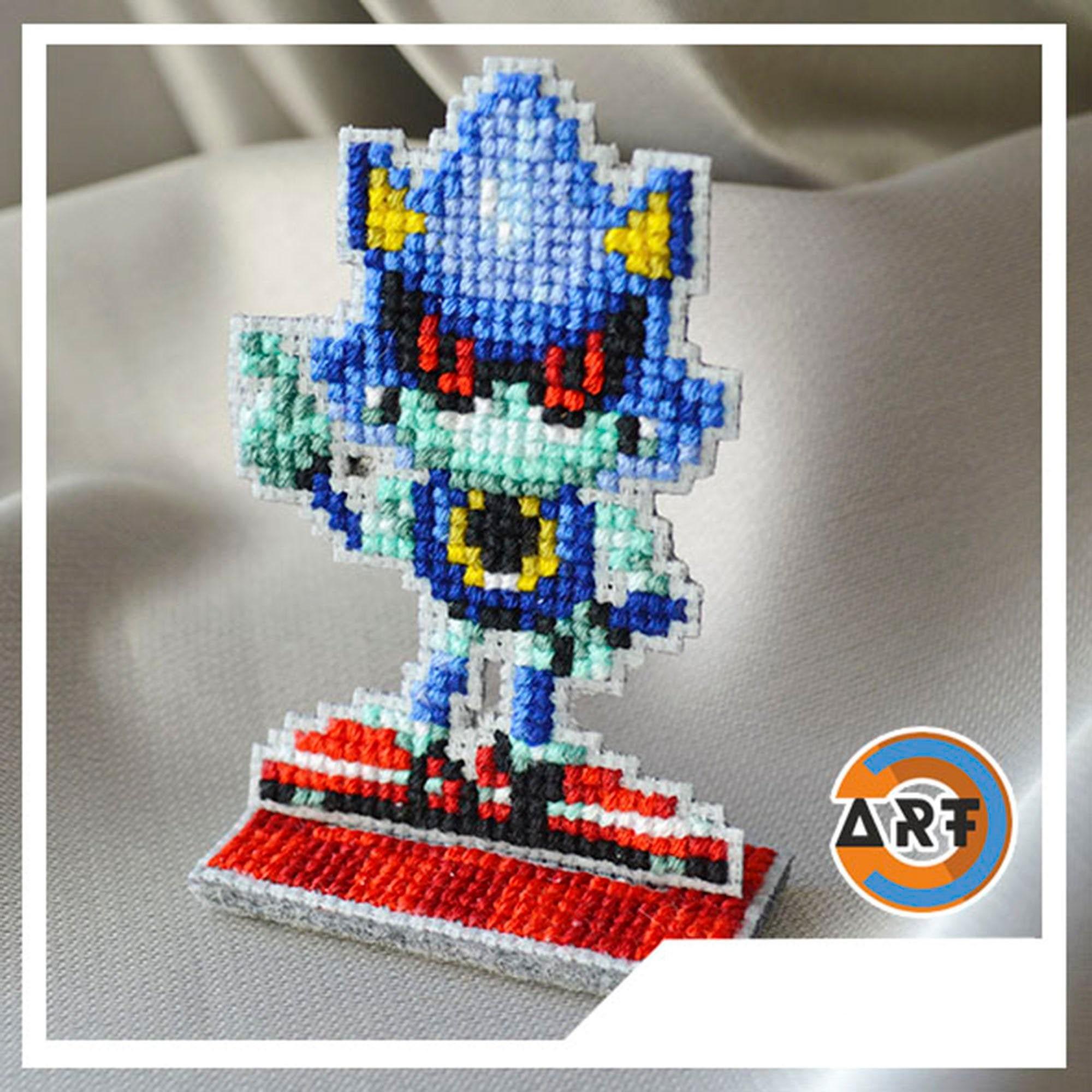 Metal Sonic figure Sonic the Hedgehog figurine pixel art collectible