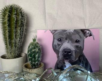 Staffordshire Bull Terrier A5 Print