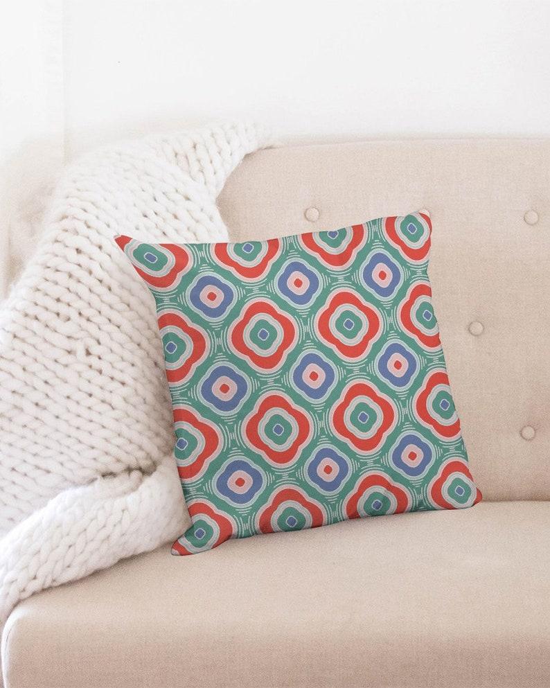 Throw Pillow Case 18x18 Fortune Flower