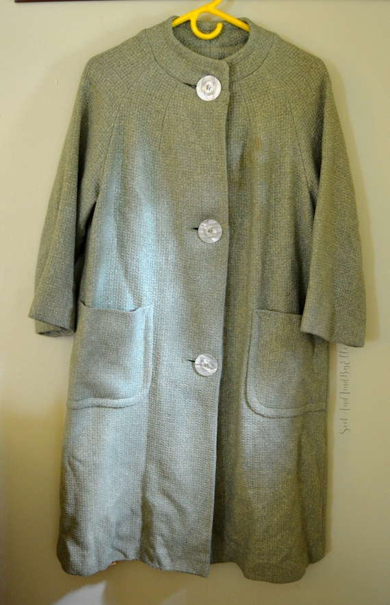 1950s Green Wool Coat