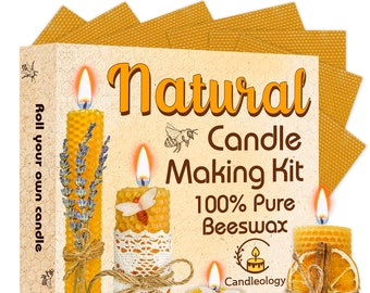Random Color EXCEART 9pcs Make Your Own Beeswax Candle Kit Beeswax Honeycomb Sheets Beeswax Candle Making Kit 7.86X7.86Inch