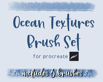 3 Ocean Texture Procreate Brushes   Digital Procreate Brushes   Procreate Texture Brushes   Gift for Digital Artist   Digital Art Gift