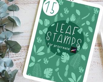 15 Leaf Procreate Brushes   Digital Procreate Stamp Brushes   Botanical Procreate Stamps   Gift for Digital Artist   Digital Art Gift