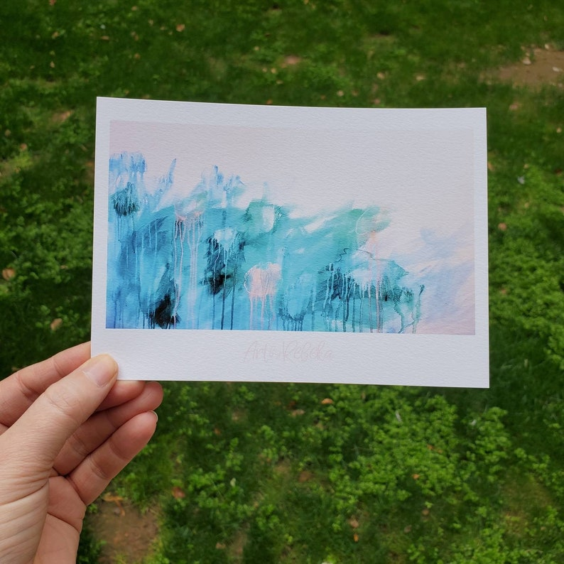 Limited edition 5 x 7 print of original painting image 0