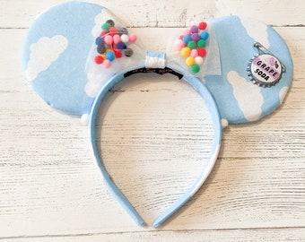 DISNEY Ears Mouse Mickey Minnie Plush Cloud Fabric Balloon Pom Pom Grape Soda Pin Adult Kids Gift Accessories Free Uk Postage PIXAR UP