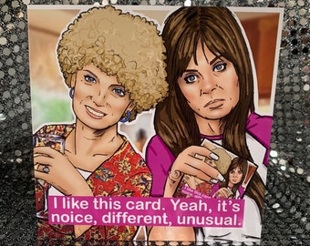 Kath and Kim - Gay Icons limited edition  Blank greeting card