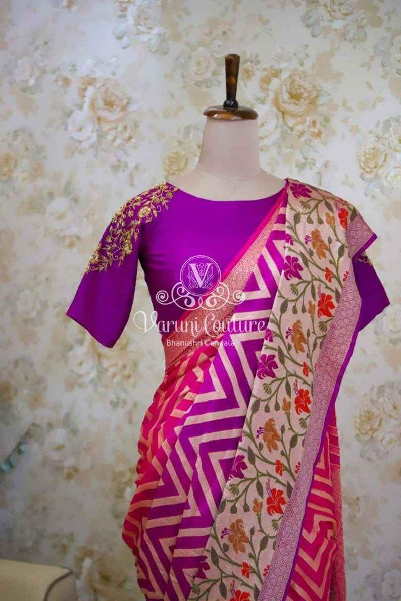 Beautiful Pure Chiffon Handloom dyeable Georgette Banarasi Saree pure Zari work Weaving Special Occasion Fabric Sari Women Blouse Wedding