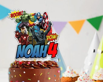 Superhero Cake Topper Etsy