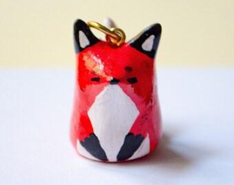 Fox Necklace, Fox Keychain, Fox pendant, Fox Spirit Animal, Animal Necklace or Keychain, Fox gift, handmade Fox, Handmade Clay Charm