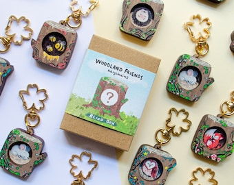 Blind Box Keychain, Collectible Keyring, Wooden Forest Friends Keychains, Mystery Box, Mystery Gift, Surprise Box, Eco Friendly Gift