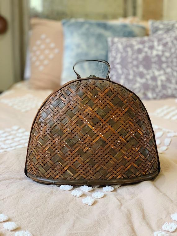 Basket Bowler Vintage Purse * Decorative Basket wi