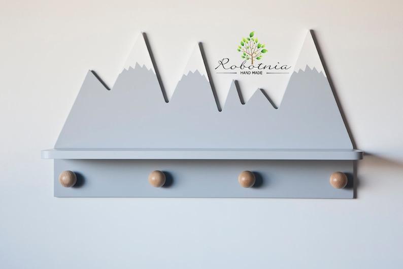 Porte manteau sur le thème de la montagne - Créatrice : Robotnia