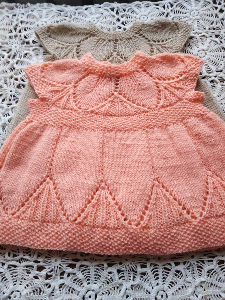 gestricktes kleid für mädchen 1 3 jahre hergestellt aus