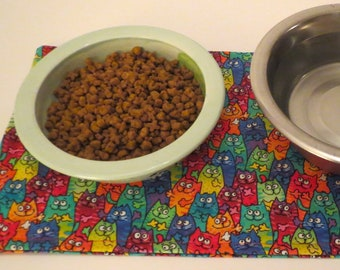 Pet Bowl Placemats - for cats