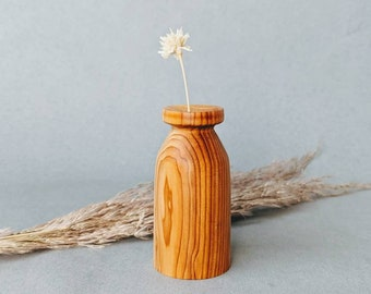 Mini Bud Vase hand turned from English Yew