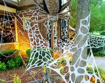 Halloween decor spider web, outdoor, indoor, reusable