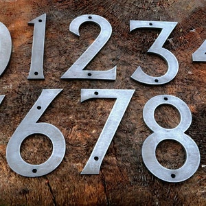 Building 10cm SCREW on house No 94 Door Stainless Steel House Numbers