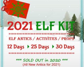 Personalized Elf Kit 2021 Pre-Order   Elf Prop 2021 Kit   2021 Elf Antics   Elf Activities   Complete 2021 Elf Kit   Elf Accessories