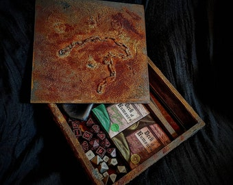 Rusted Metal effect Dice, Deck or tool box