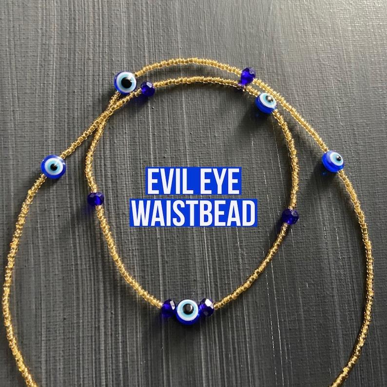 Evil eye waistbead