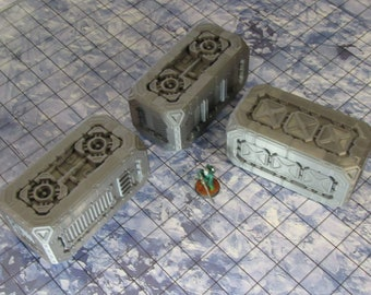 Scifi Scatter Containers by The Dragons Rest 28mm Wargame Terrain Warhammer 40K Infinity