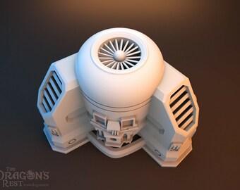 Sci Fi Oxygen Pump by The Dragons Rest 28mm Wargame Terrain Warhammer 40K