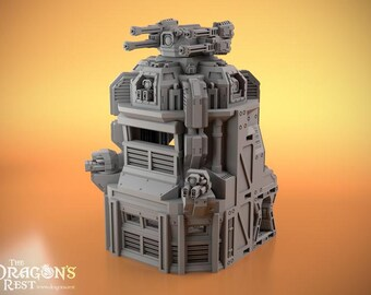 Bunker by The Dragons Rest 28mm Wargame Terrain Warhammer 40K Infinity