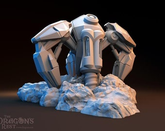 Sci Fi Mineral Extractor by The Dragons Rest 28mm Wargame Terrain Warhammer 40K